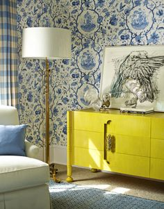 Great colors! Designed by Gideon Mendelson and photographed by Eric Piasecki for House Beautiful.