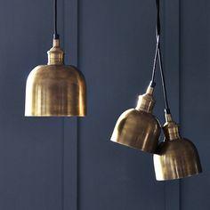 flori brass pendant light by rowen & wren | notonthehighstreet.com