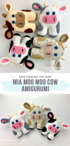 Crochet Cow, Quick Crochet, Crochet Gifts, Crochet Dolls, Free Crochet, Crochet Animals, Crochet Leg Warmers, Amigurumi Toys, Stuffed Animal Patterns