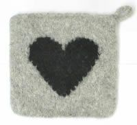 Huovutetut patalaput Pot Holders, Knitting Patterns, Coasters, Felt, Rugs, Crochet, Diy, Handmade, Decor