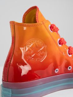 JW Anderson x Converse Toy Collection Glossy Chuck Taylor All Star 70 Pop-Up London Converse Chuck, Converse All Star, Converse Shoes, Shoes Sneakers, Orange Converse, Sneakers Fashion, Fashion Shoes, Iu Fashion, Shoe Company