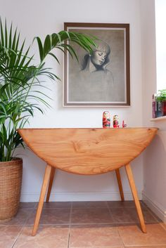 Ercol Dining Table, Dining Table Small Space, Dining Rooms, Small Apartment Layout, Dream Apartment, Ercol Furniture, Small Space Design, Drop Leaf Table, Decoration