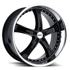 TSW JARAMA BLACK POLISHED alloy wheels with stunning look for 5 studd wheels in BLACK POLISHED finish with 19 inch rim size