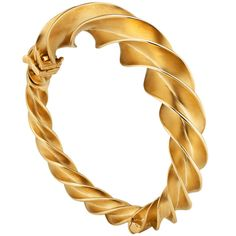 Tiffany & Co. Schlumberger Gold Bangle Bracelet. This stunning 18K gold Tiffany & Co. Schlumberger designed bangle bracelet resembles a curled ribbon ready to unfurl, giving the piece a feeling of perpetual motion. Stamped Tiffany & Co., Schlumburger, and Studios 750, the piece is eye catching when worn alone or layered with other collectibles.