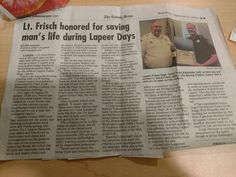 So proud of the people that serve on the City of Lapeer Police force...nice work Dave!