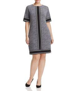 MICHAEL Michael Kors Plus Stingray Border Print Shift Dress