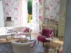 Designers Guild Madame Butterfly wallpaper