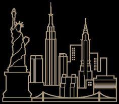 New York Skyline Stencil Gif cakepins.com