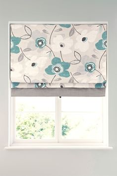 Buy Teal Bold Floral Print Roman Blind from the Next UK online shop