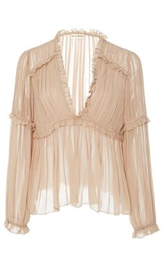 Silva Pleated Blouse by ULLA JOHNSON for Preorder on Moda Operandi