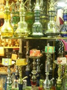 Egyptian souvenirs include waterpipes. Article at  http://www.buckettripper.com/what-to-buy-in-egypt-souvenir-shopping-among-the-ruins-of-the-nile/#