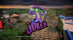 The Joker new-for-2016 off-ride & on-ride POV animation Six Flags Discov...