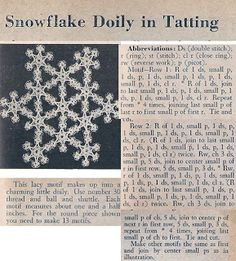 Snowflake Doily - pattern hard to read I mostly want to you the picture as an Idea