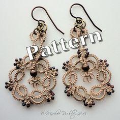 Tatting Pattern Kinetic Earrings PDF Instant by yarnplayer on Etsy