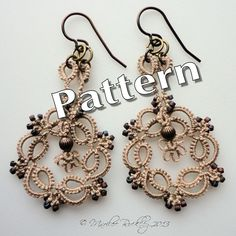 PDF Tatting Pattern Kinetic Earrings Instant by yarnplayer on Etsy.  $3.55