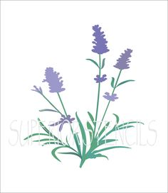 Lavender STENCIL 6 sizes available Create by SuperiorStencils