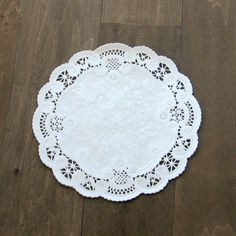 250  6 doilies  french lace doilies  white lace by Artesenias