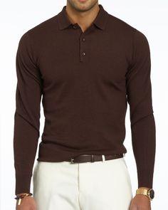 Brown Long Sleeve Polo base