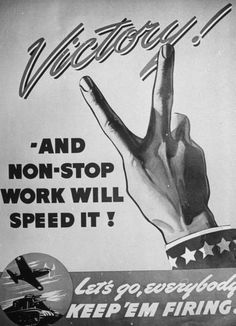 Close-up of Oldsmobile poster used in production drive. Detroit, MI, US 1942. Photographer:Charles E. Steinheimer