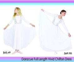 Danzcue Worship Dance Finger Loop Chiffon Drape