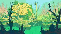 ArtStation - Typha : Backgrounds 7, Jonas Genevaz