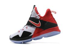 Really Cheap Lebron Shoes 2017 Really Cheap Lebron 14 XIV Bred White Black Sport Red