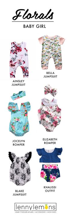Cutest options for your little girl. Choose between our rompers, jumpsuits and outfits to dress your girl. The sweetest options for you to choose the right one for her. Lenny Lemons. Baby and toddler apparel.
