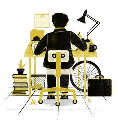 James Olstein.com   Brownstein Group 50th Anniversary  illustration, phldesign, james olstein, jamesolstein, editorial