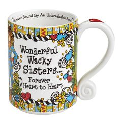 Wonderful Wacky Sisters Forever Heart To Heart Mug By Enesco Gift Designed By Suzy Toronto