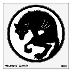 Werewolf Moon Circle Room Decals