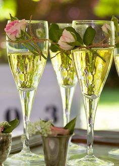 rose champagne idea Champagne flutes are included in our venue pricing! Stewart Family Farm