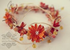 Fall inspired head halo for baby toddler by greenearthstudio, $32.40