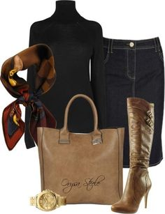 Fall outfit. So love this!..just maybe not a turtle-neck :/