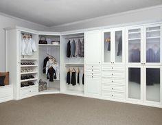 clean, white closet