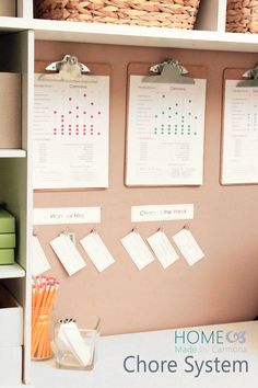 Amazing Chore System with work for hire. so adorable, worth pinning again.