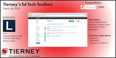 #TierneyTools March 28, 2015: Listango https://www.listango.com/ Follow TierneyEd on Twitter and Tierney Brothers on Facebook for new tech tools!  https://www.facebook.com/TierneyBrothers https://twitter.com/TierneyEd #edtech