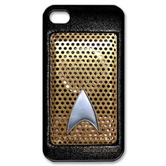 Classic retro Geek Star Trek Communicator radio captain picard apple iphone 4 4s case by simplegiftshop, $16.50