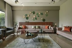 Nirat: A Modern House Deeply Rooted in Geometric Elements Living Room Designs India, Indian Living Rooms, My Living Room, Living Room Decor, Indian Interior Design, Interior Modern, Interior Design Living Room, Drawing Room Interior Design, Hall Room Design