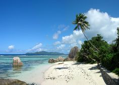 Beach: Anse Source D'Argent ;         Located in the Seychelles, Anse Source D'Argent is one of La Digue's many sublime beaches. Immeasurable in beauty, its white sand and turquoise lagoon will give you the impression you've found heaven on earth.