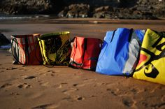 Beach Bags made out of recycled kitesurf sail