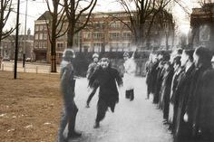 Amsterdam February 22, 1941. 427 young Jewish men are arrested by the Nazis and collected on the Jonas Daniel Meijer Square. All were killed in the concentration camps Buchenwald and Mauthausen