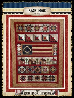 Back Home  Quilt Kit by myreddoordesigns on Etsy, $110.00