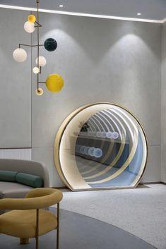 【新提醒】无限可能性的可持续设计,换个维度看售楼处 | MOD墨设-室内设计-拓者设计吧 Chandelier Table Lamp, Deco Paint, Shops, Kids Furniture, Kids Bedroom, Interior Architecture, Art Deco, Wall Decor, Home Appliances