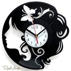 Vinyl Wall Clock CHICK Recycled Vinyl Record Clock by RealVinyls, $30.00