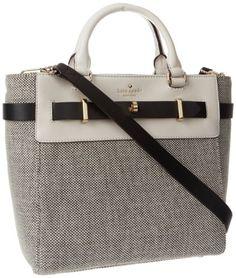 Kate Spade New York Bourbon Street Fabric-Skyler Cross Body,Black/Cumulus,One Size  #Handbags