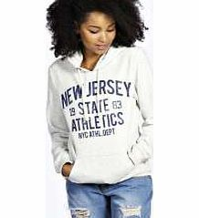 boohoo New Jersey Overhead Hoody - ecru azz26871 Give your staples a sporty vibe with this slogan hoodie in soft cotton jersey. Layer it over a basic tee with joggers and slip ons on those lazy days. http://www.comparestoreprices.co.uk/womens-clothes/boohoo-new-jersey-overhead-hoody--ecru-azz26871.asp