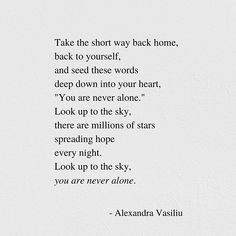 """Alexandra Vasiliu (@alexandravasiliuwriter) posted on Instagram: """"You are never alone. You still have the sky. ✨ My poetry books are available worldwide through the link in my bio. Discover them for free…"""" • May 2, 2020 at 12:14am UTC"""