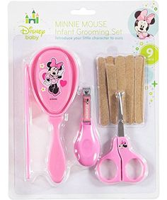 """Disney """"Minnie Magic"""" 9-Piece Infant Grooming Set - pink, one size   Keep them looking lovely as ever with this adorable Minnie infant grooming set. Includes: Brush Comb Safety Scissors Nail Clippers 5 Read  more http://shopkids.ca/baby-care/disney-minnie-magic-9-piece-infant-grooming-set-pink-one-size"""