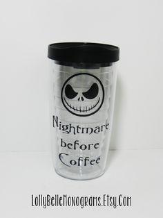 Nightmare before Christmas inspired Coffee Mug by lollybellemonograms on Etsy