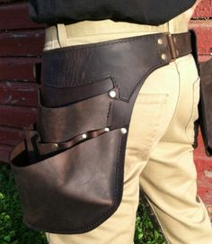 Leather Tool Belt XL Perfect for shop use and by WheelerMunroe